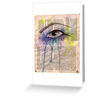 Tears of Rage Greeting Card
