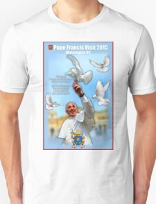 Pope Francis 2015 Wash DC Visit-doves background T-Shirt