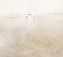 three girls running by paulgrand