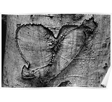 Carved Heart Poster