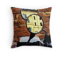 Reflected windows in Siena Throw Pillow