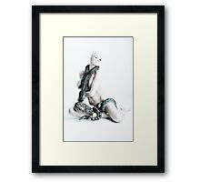 Nude girl with snakes Framed Print