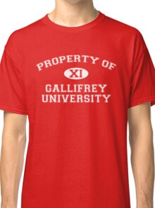 Property of Gallifrey University - 11th Doctor Classic T-Shirt