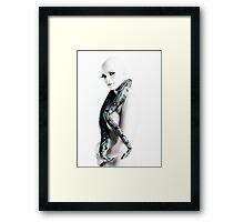 Nude girl with snake Framed Print