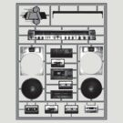 Boombox Model Kit by kagcaoili