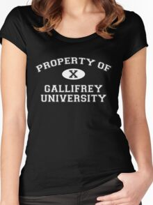 Property of Gallifrey University - 10th Doctor Women's Fitted Scoop T-Shirt
