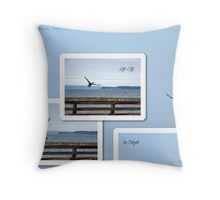 Leaving Seattle Throw Pillow
