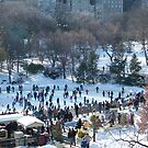 Wollman Rink, Central Park in Snow by lenspiro