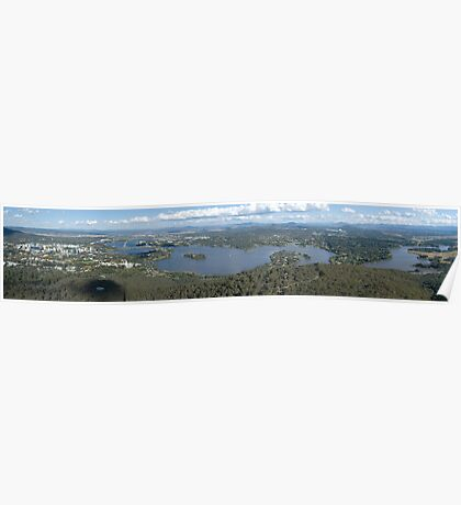 Canberra, ACT, Australia - a panorama Poster