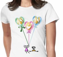 Mom Hearts n Kids Womens Fitted T-Shirt