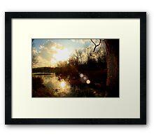 Pond Sunset Framed Print