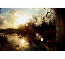 Pond Sunset Photographic Print