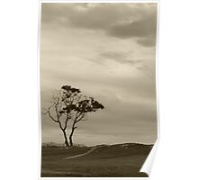 A Storm Approaches and Life is Beautiful (sepia) Poster