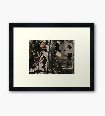 He Seeks For His Confident Profile Framed Print