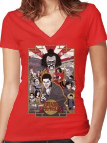 The Last Dragon Glow Poster Shirt Women's Fitted V-Neck T-Shirt