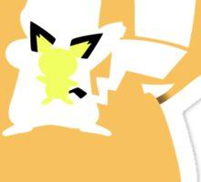 Pichu - Pikachu - Raichu 2 Sticker