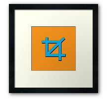 Crop Symbol Framed Print