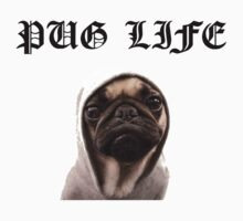 pug life funny Kids Clothes