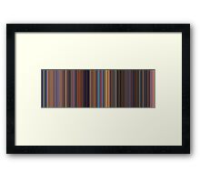 Moviebarcode: Toy Story 2 (1999) [Simplified Colors] Framed Print