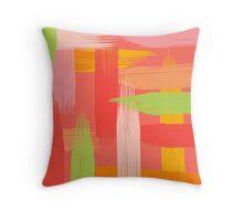 Abstract Grapefruit Throw Pillow