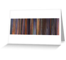 Moviebarcode: Toy Story 2 (1999) Greeting Card