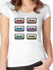 PIXEL CASSETTES  Women's Fitted Scoop T-Shirt