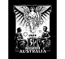 Australian 1945 Peace Stamp Photographic Print