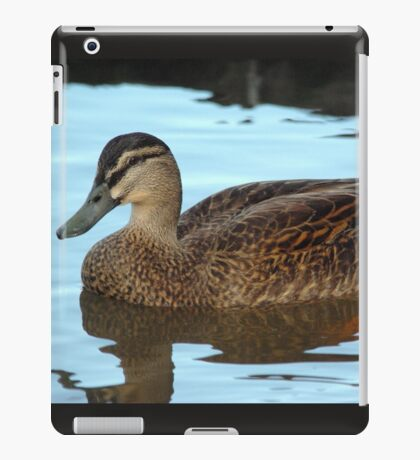 Masked duck paddling - a tranquil reflection iPad Case/Skin