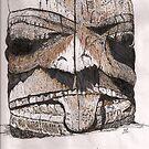 Haida Gwaii: Totem Detail by Lynda Earley