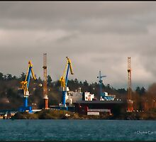 Esquimalt Royal Navy Dockyard by Daphne Eze