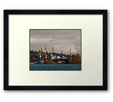 Esquimalt Royal Navy Dockyard Framed Print