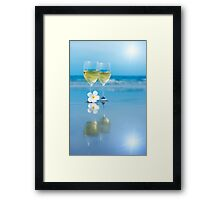 Two glasses of white wine Framed Print
