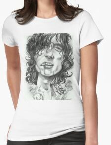 'Page' caricature art by Sheik Womens Fitted T-Shirt