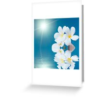 Seashell and flower in the sea Greeting Card
