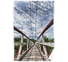 Suspended bridge Poster
