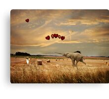 Playing With Balloons.... Canvas Print