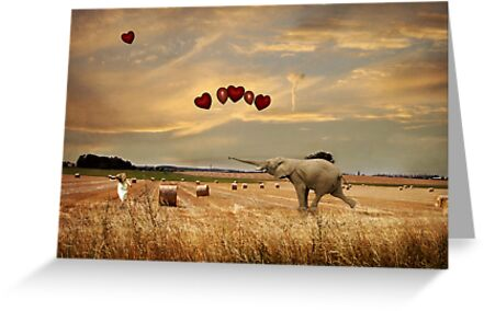 Playing With Balloons.... by Carol Knudsen
