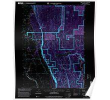 USGS Topo Map Oregon Fort Klamath 279928 1998 24000 Inverted Poster