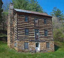 East Tennessee Log Cabin by Sue Justice