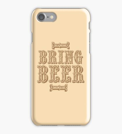 BRING BEER (vintage) iPhone Case/Skin