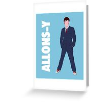 Doctor Who - Allons-y  Greeting Card