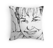 AuntDot has been Scribbled! Throw Pillow