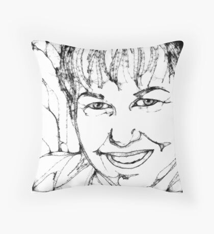AuntDot has been Scribbled! Throw Pillow