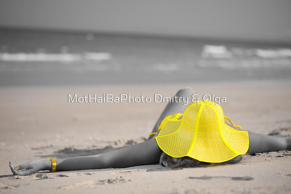 Woman in yellow hat by MotHaiBaPhoto Dmitry & Olga