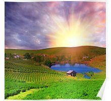 Tea plantation Poster