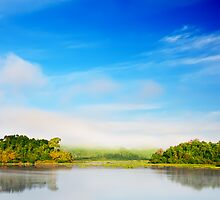 Beautiful tropical lake at morning time by MotHaiBaPhoto Dmitry & Olga