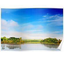 Beautiful tropical lake at morning time Poster