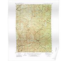 USGS Topo Map Oregon Dutchman Butte 282432 1946 62500 Poster