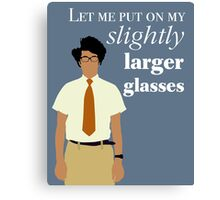It Crowd - Maurice Moss Glasses Canvas Print