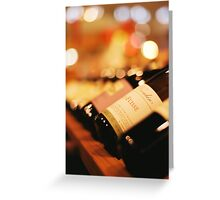 Bokeh and Wine Greeting Card